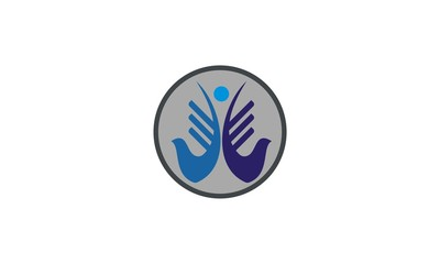 abstract people company logo