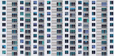 Facade immeuble avec balcons