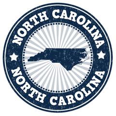North Carolina grunge stamp