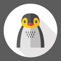 penguin zoo animal flat icon