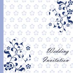 Vintage retro Wedding invitation with floral ornaments. Vector
