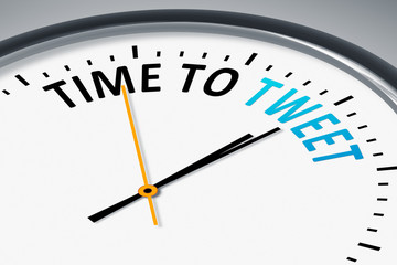 clock with text time to tweet