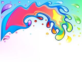 Multicolored wave