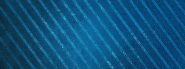 large blue striped background with vintage texture, diagonal slanted stripes with faded grainy texture, old wallpaper pattern design