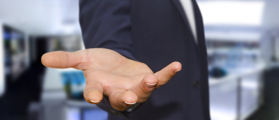 Businessman empty hand