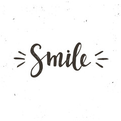 Smile. Hand drawn typography poster