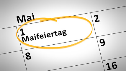 May Day 1st of May in German language