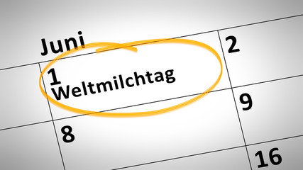 World Milk Day first of june in german language