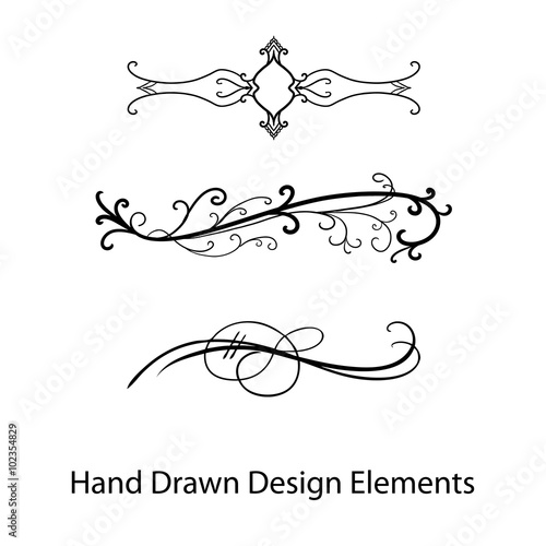 vector design element, beautiful fancy curls and swirls divider or ...