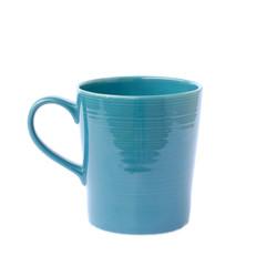 blue mug on a white background