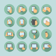 smartphones and tablets icon set
