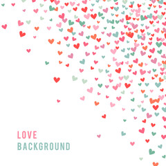 Romantic pink and blue heart background. Vector illustration