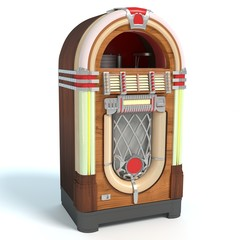 3d illustration of an old jukebox