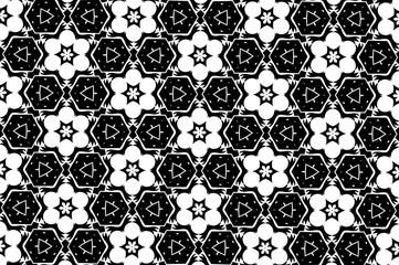 Орнамент с элементами чёрного,серого и белого цветов. 17