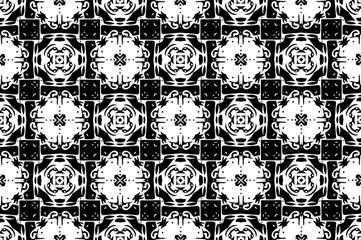 Орнамент с элементами чёрного,серого и белого цветов. 5