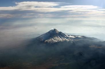 Volcano Popocatepetl, Mexico. View from plain.