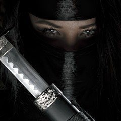Beautiful long haired ninja girl