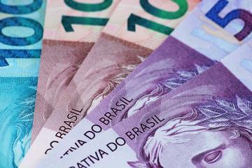 Brazilian money closeup