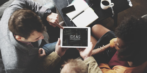 People Team Working Together Ideas Tablet Concept
