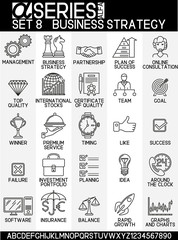 Line design icons- business strategy