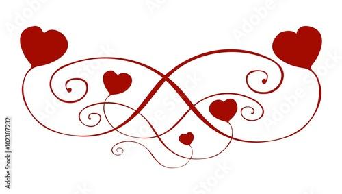 ornament decorative curved heart handpainted ornament. Black Bedroom Furniture Sets. Home Design Ideas