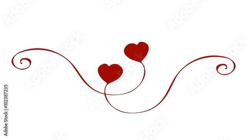 curving heart handpainted ornament valentine 39 s day. Black Bedroom Furniture Sets. Home Design Ideas