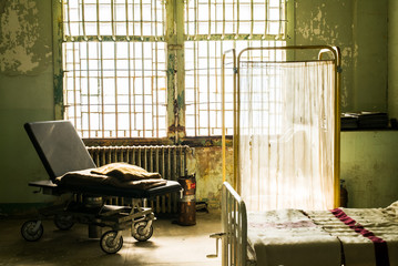 An Old Hospital Bed at Alcatraz