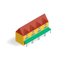isometric 3D building model. Vector illustration.