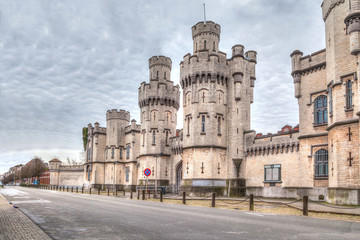 Historical Saint-Gilles prison in Brussels
