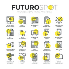 Advertising channels Futuro Spot Icons