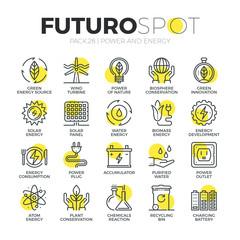 Sustainable Energy Futuro Spot Icons