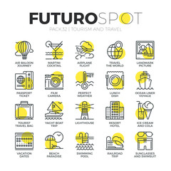 Tourism Recreation Futuro Spot Icons
