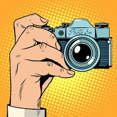 Retro camera snapshot selfie