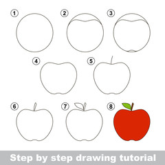 Drawing tutorial. How to draw an Apple