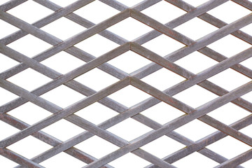 Wooden fence lattice.