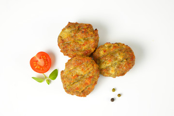 vegetable and cheese patties