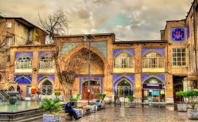 Historic buildings in the city centre of Tehran, Iran