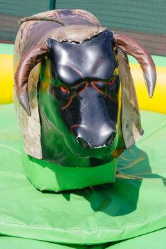 Shabby mechanical bull ride simulator