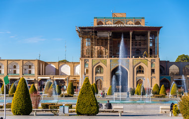Ali Qapu Palace on Naqsh-e Jahan Square in Isfahan, Iran