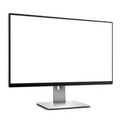 Computer Monitor with white blank screen Mockup