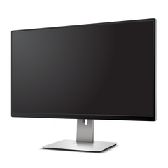 Computer Monitor with blank screen Mockup Isolated on White