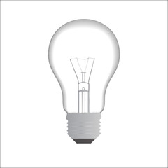 electric bulb on the white background