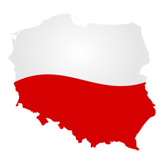 Poland country silhouette vector