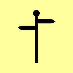 Direction road sign