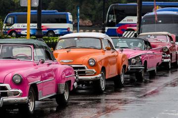 Cuban cars. Typical cuban taxi in Havana, Cuba
