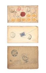 Ancient collection of envelopes