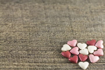 Valentine's Day - abstract view of colored hearts