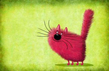 Red Cat Looking Upwards
