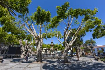 Market Square Plaza del Adelantado of San Cristóbal de La Laguna Tenerife, Canary Islands, Spain, Europe