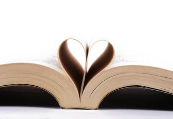 a book heart